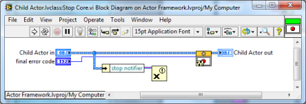 LabVIEW Actor Framework Child Class Stop Core