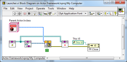 LabVIEW Actor Framework Launcher