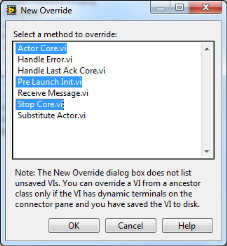 LabVIEW Actor Framework Override