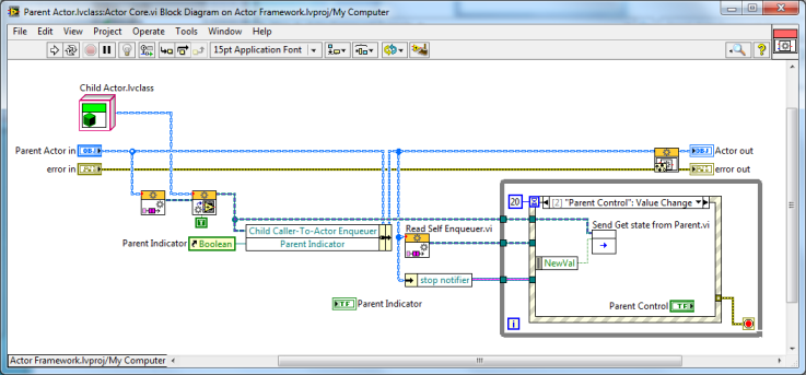 LabVIEW Actor Framework Parent Class Actor Core_3