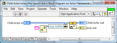 LabVIEW Actor Framework Pre Launch Init