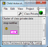 LabVIEW Actor Framework Private Data