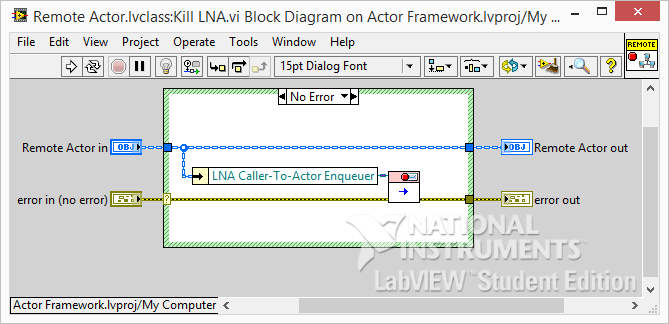 LabVIEW Actor Framework Remote Kill LNA
