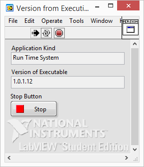 LabVIEW Application Version main