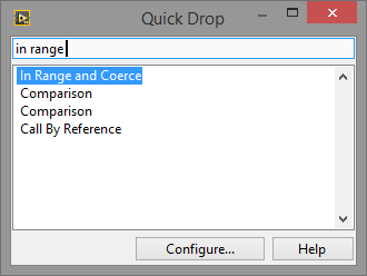LabVIEW Quick Drop In Range and Coerce