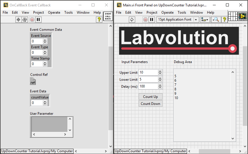 C# LabVIEW Callback Event Remains Reserved